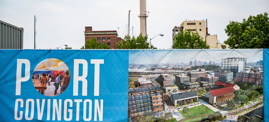 Kevin Plank, the CEO of Under Armour, and other investors will be allowed to claim what could amount to millions in tax breaks for the development project Port Covington, in Baltimore. (Matt Roth for ProPublica)