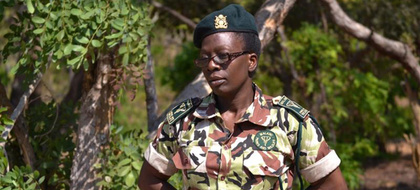 Trace Banda is one of just 52 female field rangers in Malawi. (photo: Rabson Kondowe/Al Jazeera)