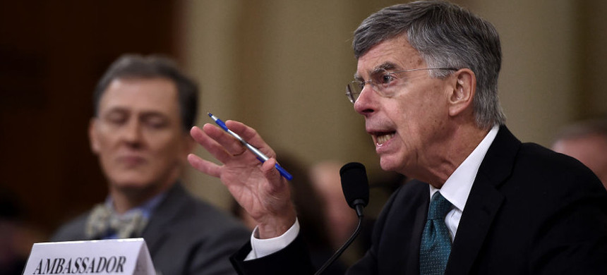 William Taylor testifies during the House Intelligence Committee on Capitol Hill in Washington, DC. (photo: Getty)