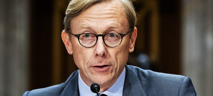 State Department Inspector General recommends disciplinary action against Brian Hook for retaliation against employees including a women of Iranian descent. (photo: Getty)