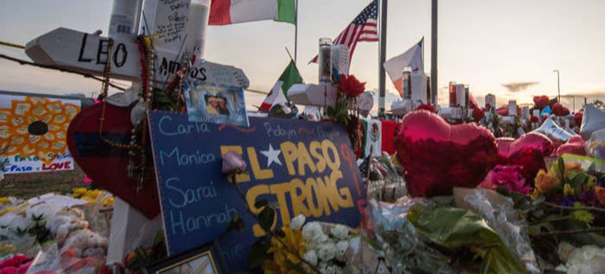 A makeshift memorial for victims of the El Paso mass shooting that left 22 people dead. (photo: Mark Ralston/Getty)