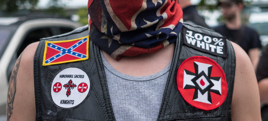 Facebook remains a home for a number of white nationalist groups despite promising a ban in March. (photo: Megan Jelinger/Getty)