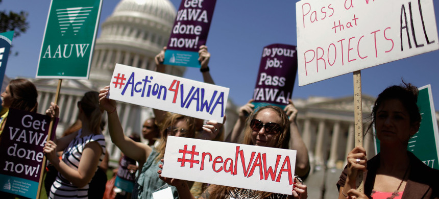 Supporters of the Violence Against Women Act. (photo: Chip Somodevilla/Getty)