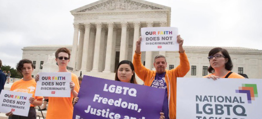 Activists demonstrate in front of the Supreme Court in 2018. (photo: J. Scott Applewhite/AP)