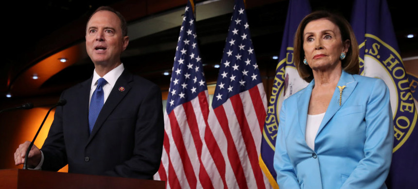 House Intelligence Committee Chairman Adam Schiff, D-CA, and Speaker of the House Nancy Pelosi. (photo: Jonathan Ernst/Reuters)