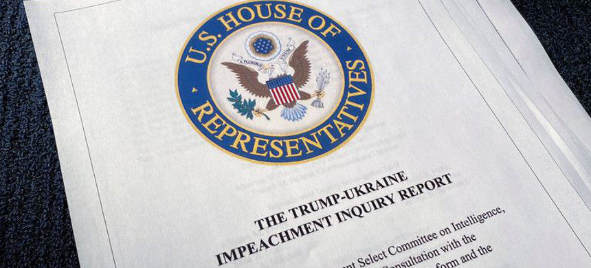 The House Intelligence Committee on Tuesday released a 300-page report on the impeachment inquiry. (photo: Jim Bourg/Reuters)