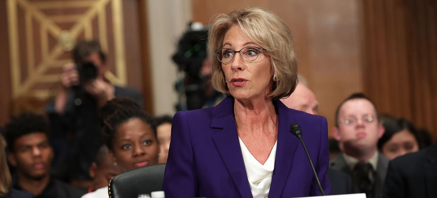 Secretary of Education Betsy DeVos. (photo: Getty)