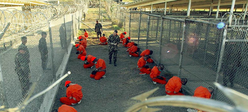 Guantanamo Bay detainees. (photo: Getty)