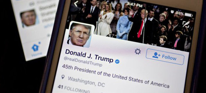 Donald Trump's Twitter page. (photo: Getty)