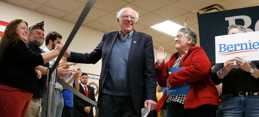 Democratic presidential candidate Sen. Bernie Sanders. (photo: Mary Schwalm/AP)