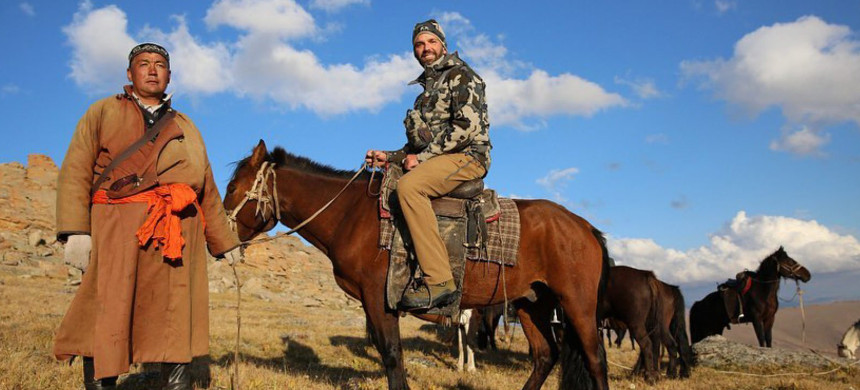Donald Trump Jr. rides a horse in the Mongolian countryside during his hunting trip this summer. (photo: Instagram)