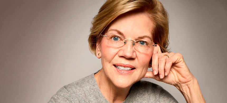 Sen. Elizabeth Warren. (photo: Peggy Sirota/Rolling Stone)