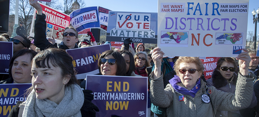 Protest against gerrymandering. (photo: Tasos Katopodis/Getty Images)