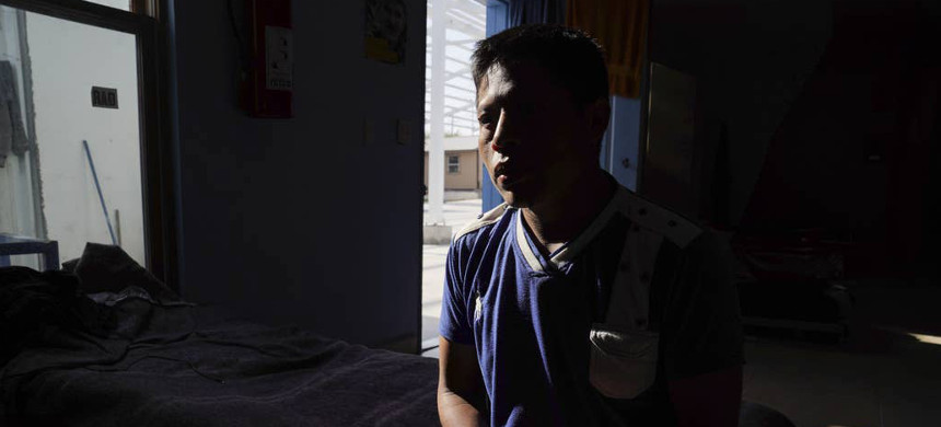 Guatemalan asylum-seeker Miguel poses for a photo at a migrant shelter where he lives in Reynosa, Mexico. (photo: Veronica G. Cardenas/Buzzfeed)