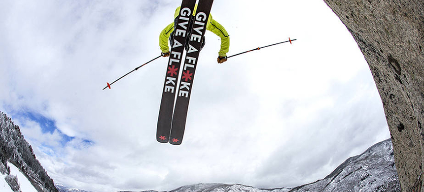 The 'Give a Flake' campaign aims to turn skiers, snowboarders and other winter sports enthusiasts into climate policy advocates. (photo: Matt Powers/Aspen Snowmass)