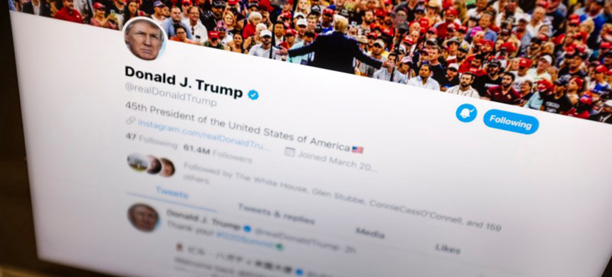 In this June 27, 2019, file photo President Donald Trump's Twitter feed is photographed on an Apple iPad in New York. (photo: J. David Ake/AP)