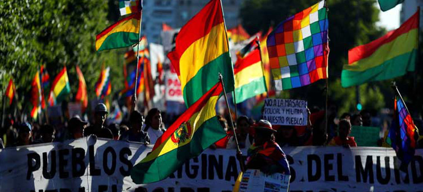Supporters of Movement Toward Socialism in Bolivia. (photo: Prensa Latina)