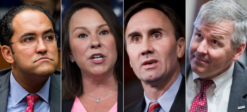 Ahead of the 2020 elections, 26 Republican House members have said they will not seek reelection, including (from left) Republican Reps. Will Hurd of Texas, Martha Roby of Alabama, Pete Olson of Texas and Rob Woodall of Georgia. (photo: Bill Clark, Tom Williams/Getty Images)