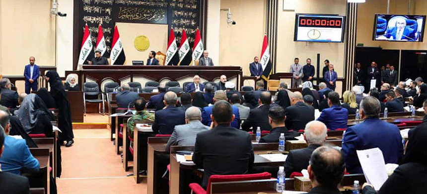 Iraqi parliamentarians voted 170-0 in favour of the motion calling for the expulsion of US troops. (photo: Iraqi Prime Minister's Office/EPA)