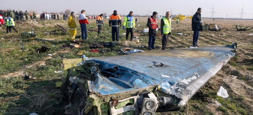 Iran has admitted that it shot down a Ukrainian airliner by mistake. (photo: Akbar Tavakoli/AFP)