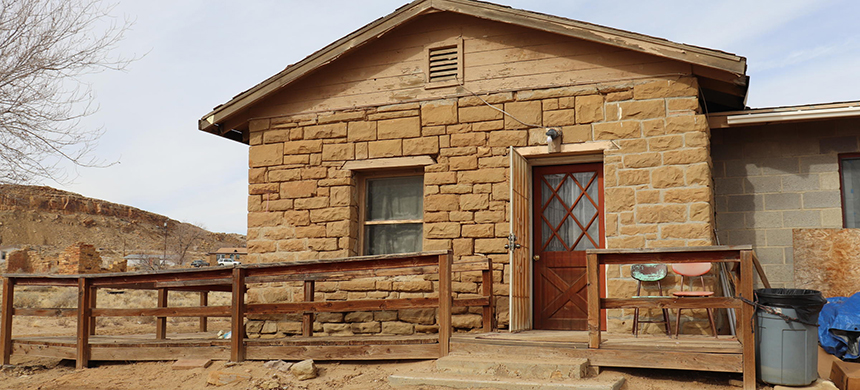 A home on the Hopi Nation that has had to transition from coal to wood for heating. (photo: Melissa Sevigny/Knau)