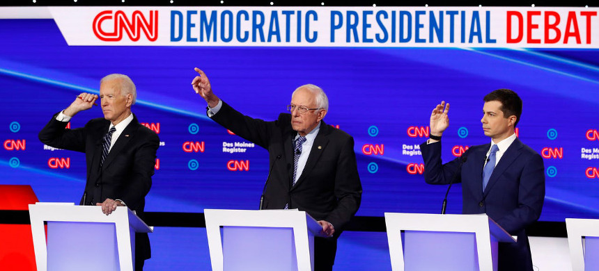 Democratic debate in Des Moines, Iowa on Jan. 14, 2020. (photo: AP)