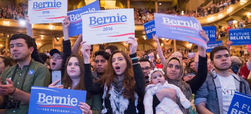 A Bernie Sanders campaign rally in Chicago, Illinois. (photo: Scott Olson/Getty)