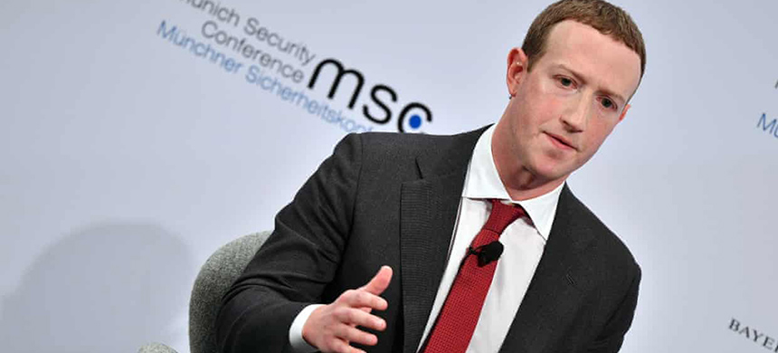 Speaking at the Munich Security Conference, Mark Zuckerberg said Facebook had been slow to understand the scale of foreign interference in elections. (photo: Philipp Guelland/EPA)