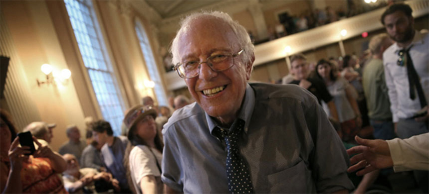 Vermont senator Bernie Sanders. (photo: Win McNamee/Getty Images)