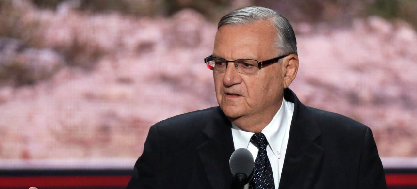 Arizona's Maricopa County sheriff Joe Arpaio speaks at the Republican National Convention in Cleveland, Ohio, on July 21, 2016. (photo: Mike Segar/Reuters)