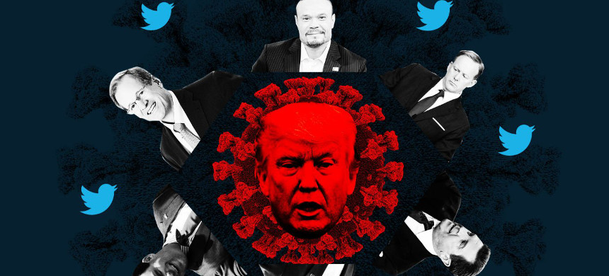 Trump and conservative media influencers. (photo: The Daily Beast/Getty)