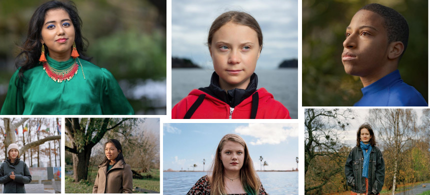 Youth climate activists. (photo: Victoria Will/National Geographic)