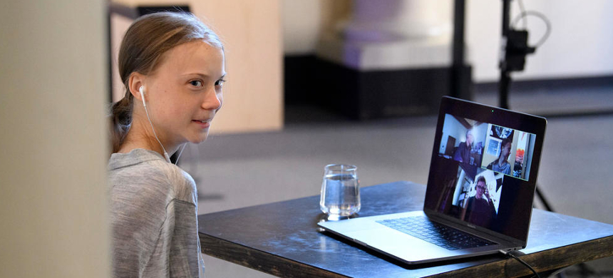 Greta Thunberg has said it is 'likely' she contracted the new Coronavirus. (photo: AFP)