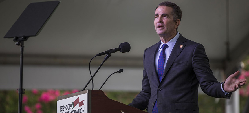 Virginia gov. Ralph Northam (D) made marijuana decriminalization a top priority for 2020. (photo: Zach Gibson/Getty Images)