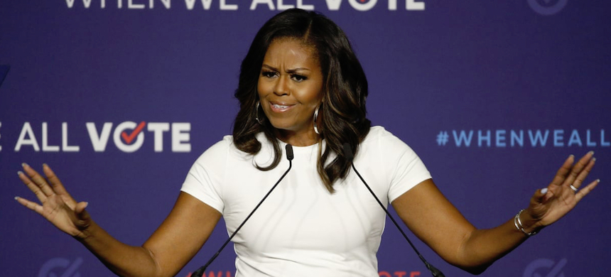 Michelle Obama in Las Vegas on 23 September 2018. (photo: John Locher/AP)