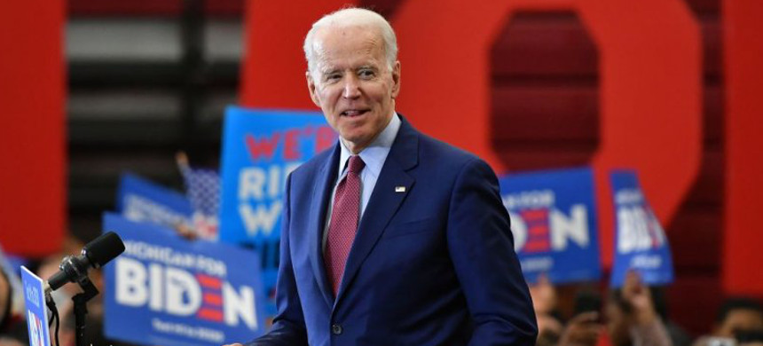Democratic presidential candidate former vice president Joe Biden speaks during a campaign rally at Renaissance High School in Detroit, Michigan, on March 9. (photo: Mandel Ngan/Getty)