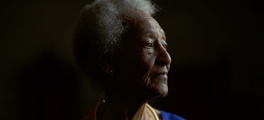 Thelma Edwards, 88, the oldest living relative of Emmett Till, poses for a portrait at the Marion County Black History Museum on 12, March 2020, in Ocala, Florida. (photo: Zack Wittman/Guardian UK)
