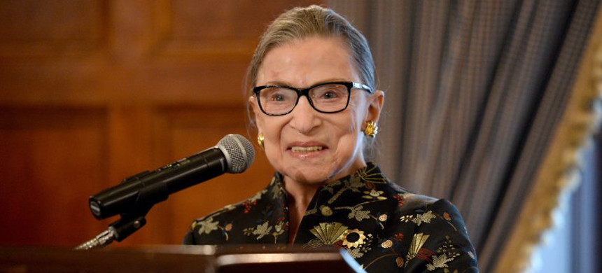 Supreme Court Justice Ruth Bader Ginsburg presents onstage at a reception before an event at the Temple Emanu-El Skirball Center on Sept. 21, 2016 in New York City. (photo: Michael Kovac/Getty)