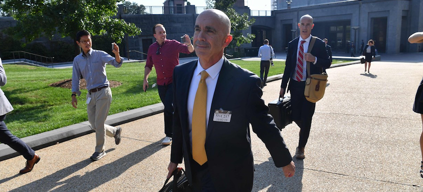 U.S. State Department Inspector General Steve Linick leaves after holding a briefing with lawmakers on Capitol Hill in Washington, D.C., October 2, 2019. (photo: Nicholas Kamm/AFP/Getty Images)