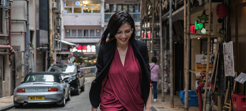 Alexis Wong, a Hong Kong-based trader, says she's never faced a more dicey business than dealing in masks during a pandemic. (photo: Anthony Kwan/WP)
