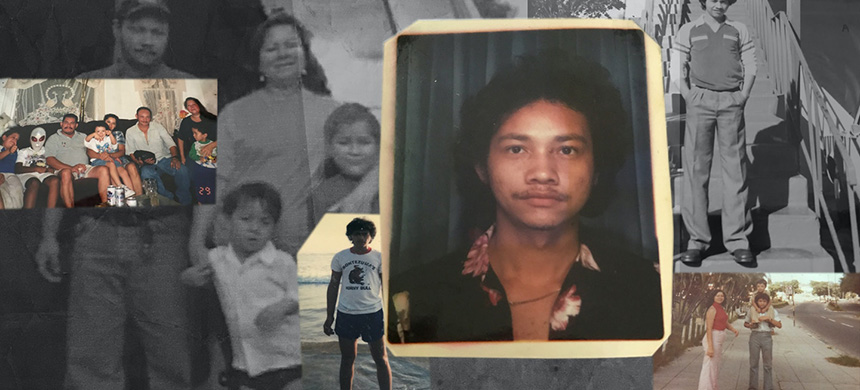 Photos of Carlos Ernesto Escobar Mejia and his family.(image: Joan DelValle/Soohee Cho/The Intercept)