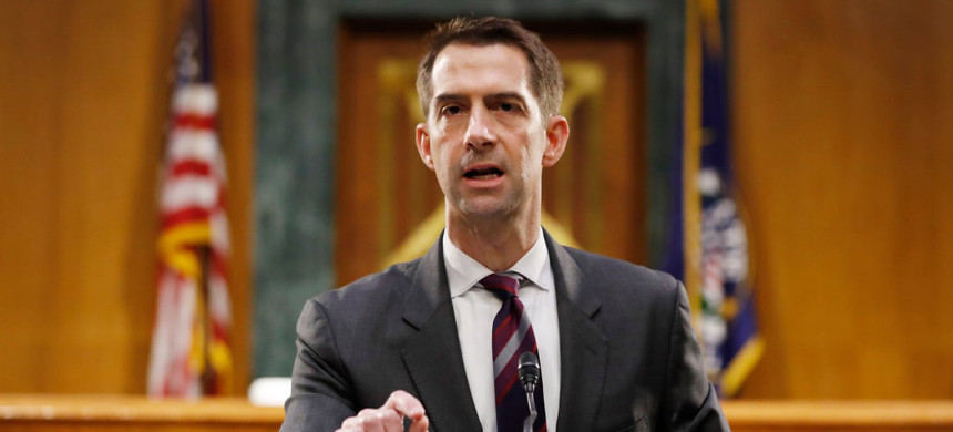 Senator Tom Cotton penned the controversial op-ed published by the New York Times on Wednesday. (photo: Andrew Harnik/EPA)