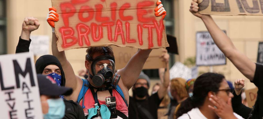 A protest against police brutality. (photo: MSN)