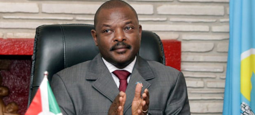Pierre Nkurunziza was due to stand down as president in August following elections last month. (photo: Evrard Ngendakumana/Reuters)