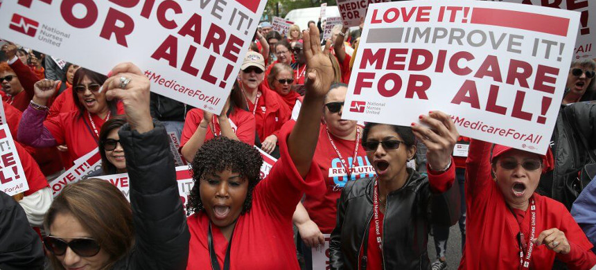Medicare for All supporters. (photo: Win McNamee/Getty)