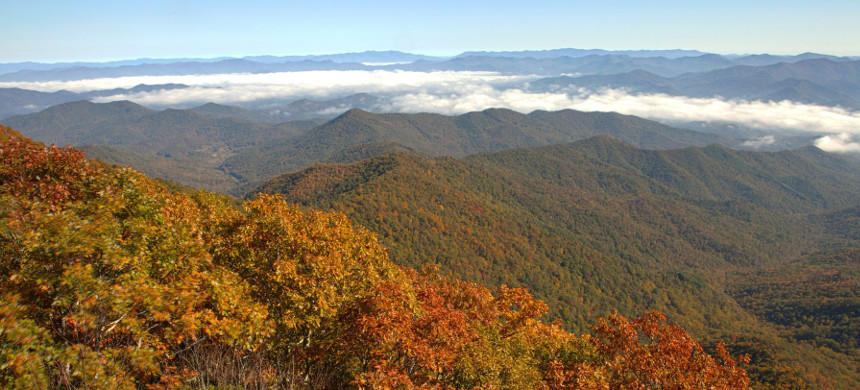 View from Albert Mountain on the Appalachian Trail at Nantahala National Forest. (photo: Getty)