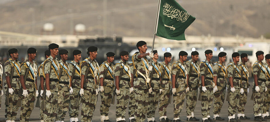 Saudi Arabian armed forces. (photo: Getty)