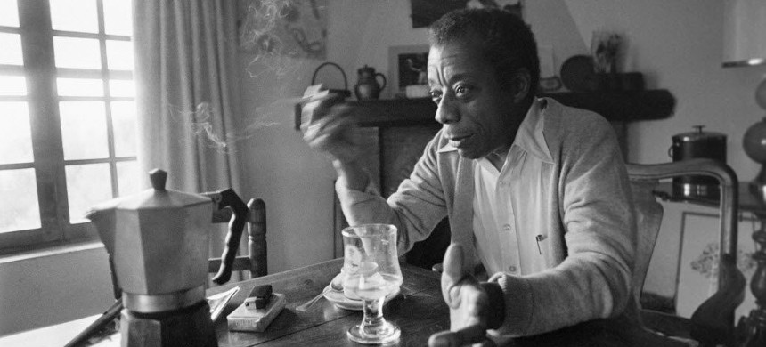 James Baldwin at his home in Saint-Paul-de-Vence, southern France, on November 6, 1979. (photo: Ralph Gatii/Getty)