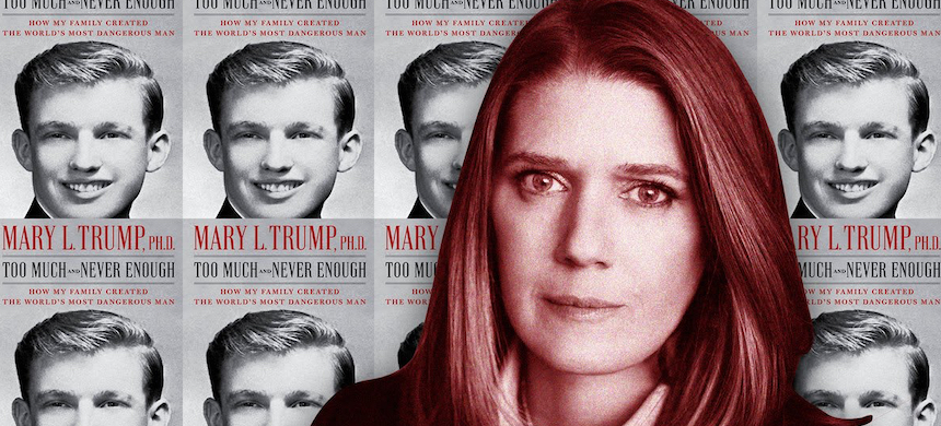 Mary Trump and her book, Too Much and Never Enough: How My Family Created the World's Most Dangerous Man. (photo: Peter Serling/The Daily Beast)