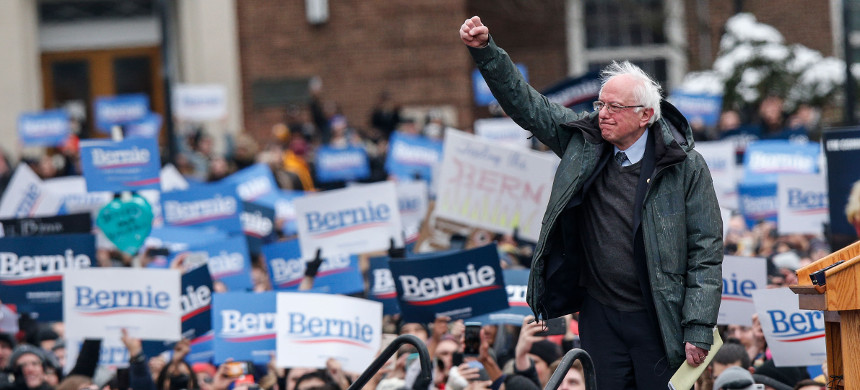 Sen. Bernie Sanders holds a presidential campaign rally at Brooklyn College on March 2, 2019, in Brooklyn, New York. (photo: Kena Betancur/Getty Images)
